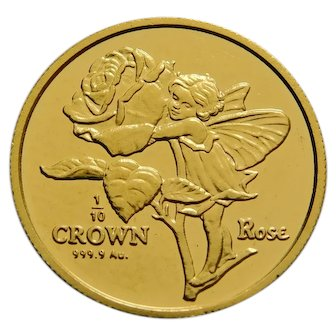 Flower Fairy Rose Gold Coin Very Hard to Find