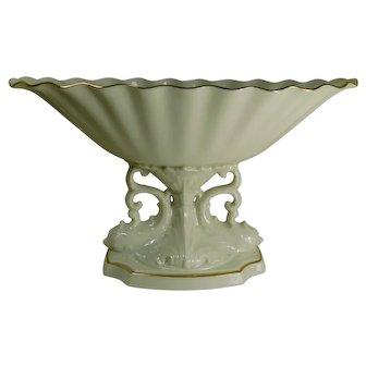 Vintage Lenox Porcelain Dolphin Pedestal Compote