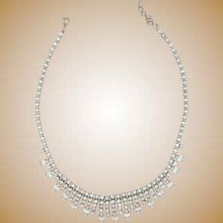 Vintage necklace withstrass, 20th century