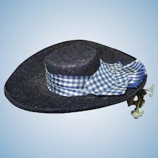 Antique nice hat fashion doll