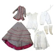 Antique beautiful outfit fashion doll with all underwars