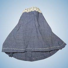 Antique nice skirt fashion doll