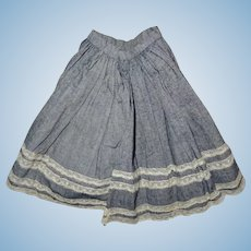Antique nice skirt fashion doll