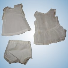 Antique nice little set underwears complet bebe jumeau size 2