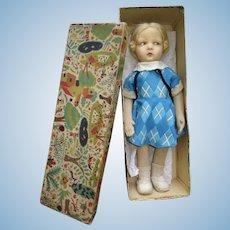 Antique large nice Lenci felt number 109 in his box original clothes original (21,65 inches)