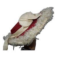 Antique large nice hat for bébé Bru, Portrait, Thuillier...