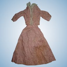 Antique outfit fashion doll