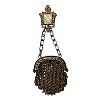 Antique lovely miniature mesh purse for fashion doll