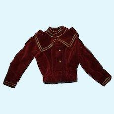 Antique beautiful XIXth jacket for large baby Jumeau, Bru, Steiner ....