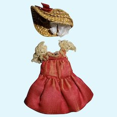 Antique very nice dress silk miniature mignonnette french XIXth hat assorted