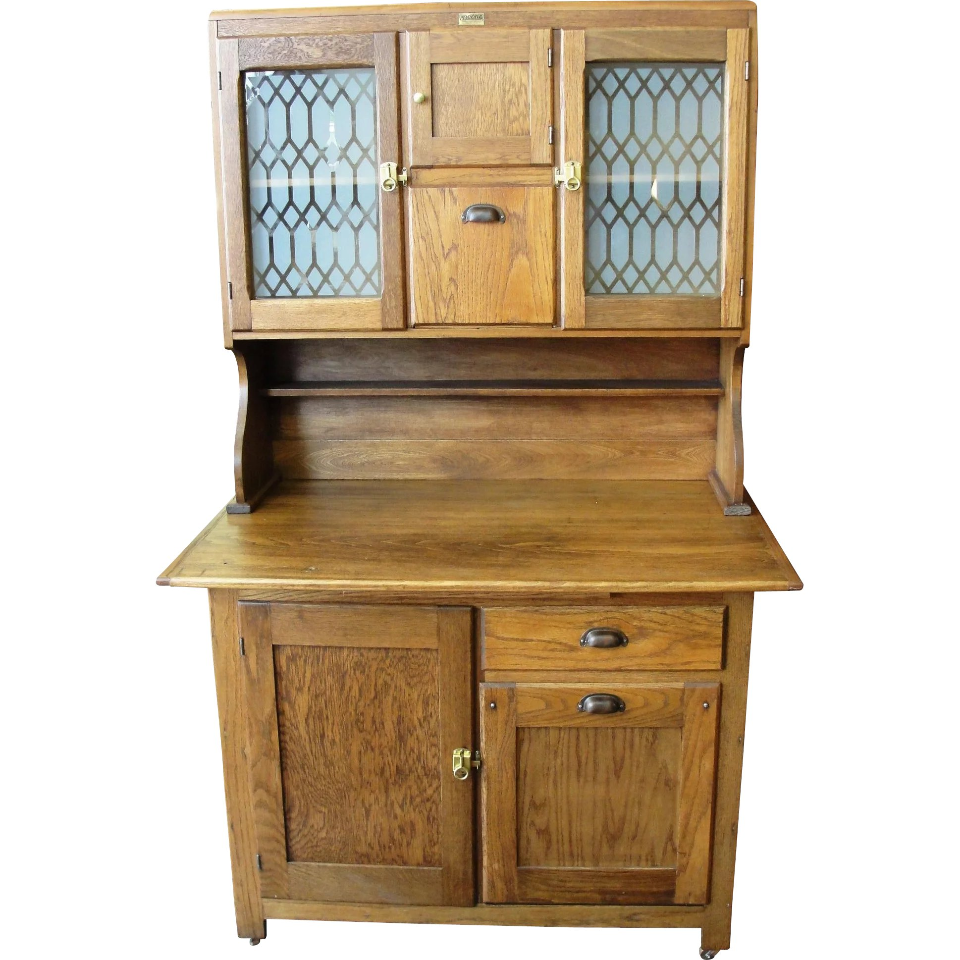 Antique Cabinets Kitchen: Antique Boone Oak 2 Piece Kitchen Cabinet : Bread & Butter