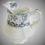 Wedgewood Porcelain China Pitcher Blue & White Transfer