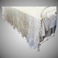 Antique Hand Crochet Bedspread Coverlet