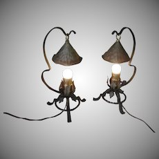 Pair of Vintage Storybook Style Table Lamps