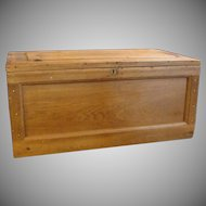 Large Carpenter Tool Chest Box with Lid