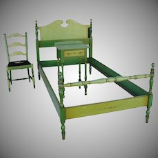 Stickley Quaint American Furniture Hand Painted Bedroom Set