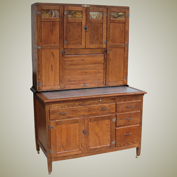 Vintage Napanee Oak Kitchen Cabinet