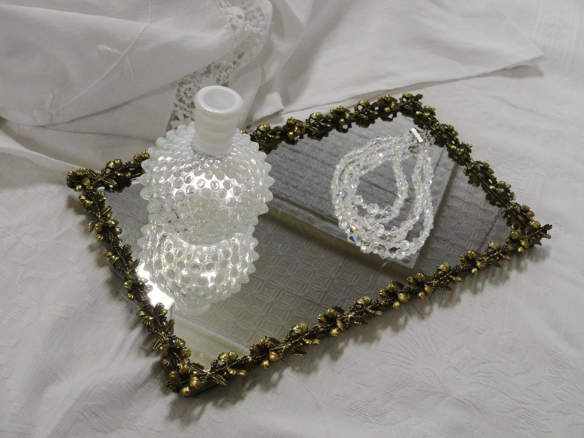 shannon crystal rectangular waterford vanity godinger cut tray serving s in sets new or box what