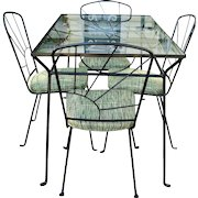 Mid Century Modern Wrought Iron Patio Set