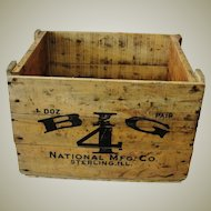 Vintage Big 4 Barn Door Roller Wood Advertising Box