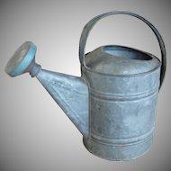 Vintage Galvanized Garden Watering Sprinkling Can