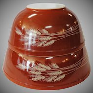 Vintage Pyrex Autumn Harvest Wheat Nesting Mixing Bowls