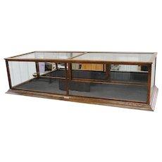 Antique Oak Counter Top Display Showcase Sun Mfg. Columbus Ohio