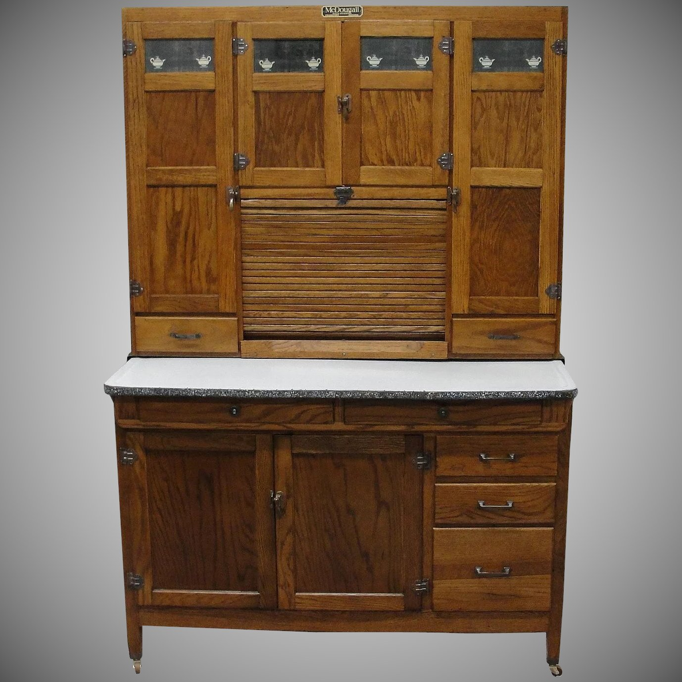 antique oak kitchen cabinet vintage 1920 mcdougall oak kitchen cabinet bread 10665
