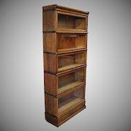 Quartersawn Oak Macey 5 Stack Barrister Lawyer Bookcase