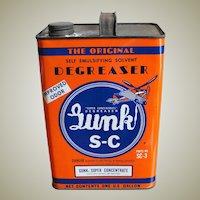 Vintage One Gallon Can Automotive Gunk S-C