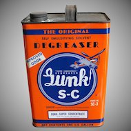 Vintage One Gallon Can Automotive Gunk S-C
