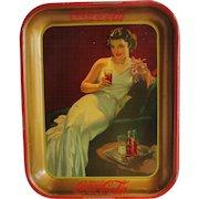 1936 Vintage Coca Cola Coke Serving Tray Hostess Girl
