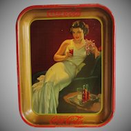 1936 Vintage Coca Cola Coke Serving Tray Hostess Girl