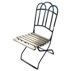 Vintage Metal Folding Garden Chair
