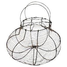 Vintage Wire Egg Gathering Basket