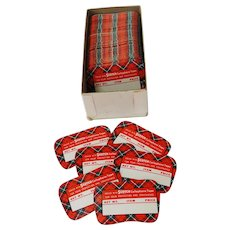 Vintage Plaid Scotch Cellophane Tape Labels From Hardware Store
