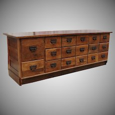 1920 Sherer Oak General Store Seed Bean Counter Kitchen Island