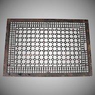 Ornate Cast Iron Floor Grate Register