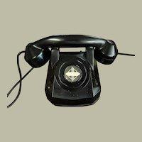 Vintage Black Bakelite Direct Line Telephone Monophone