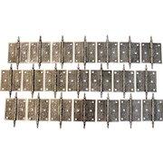 Victorian Cast Iron 3 ½ x 3 ½ Steeple Tip Door Hinges