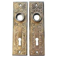 Rare Set Of 4 Circa 1878 Gilt Brass Furniture Casters
