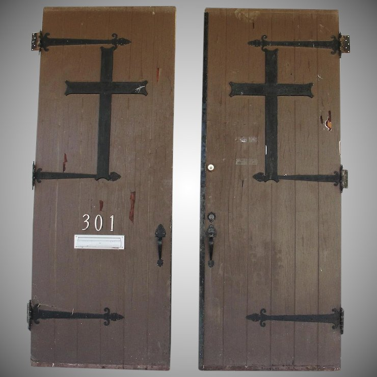 Architectural Salvage Antique Church Entry Doors - Architectural Salvage Antique Church Entry Doors : Bread & Butter