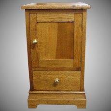 Vintage Oak Hat Box Stand