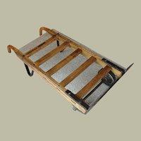 Vintage Industrial Wood Steel Hand Cart Table