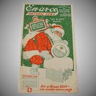 Enarco Gasoline National News Booklet Christmas 1928 Santa Cover