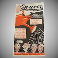 1930 Enarco National News Booklet Garden Edition