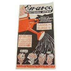 1930 Enarco National News Booklet Garden Edition