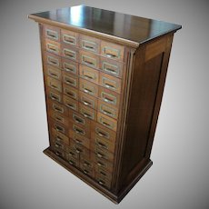 Walnut Apothecary Case with 44 Drawers