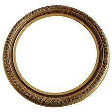 Round Gilt Wood and Gesso Frame 15 Inch