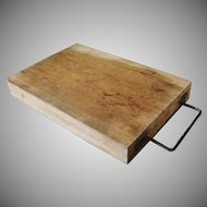 Old Primitive Thick Oak Cutting Chopping Block